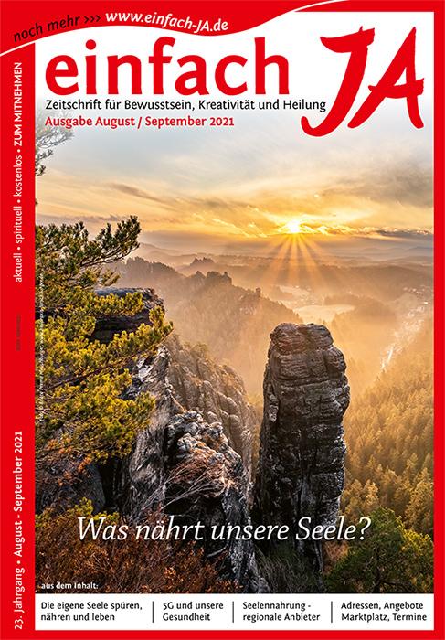 """""""Was nährt unsere Seele?"""" - Ausgabe August/September 2021 der Zeitschrift """"einfach JA"""""""